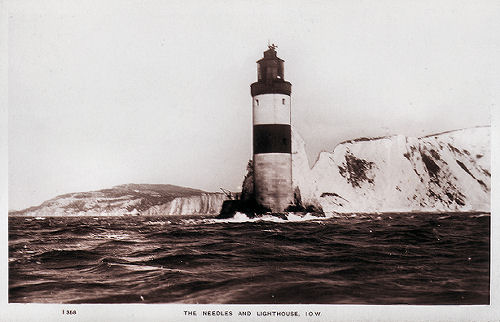 Needle lighthouse from the sea